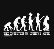Evolution of Country Music (White Ink) by Trailerparkman