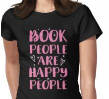 book people are happy people Womens Fitted T-Shirt