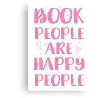 book people are happy people Canvas Print