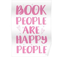 book people are happy people Poster
