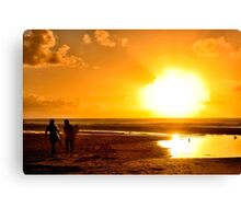 Surfer Sunset Canvas Print