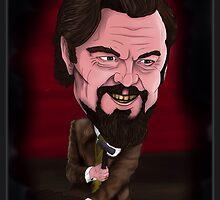 Calvin Candie - Leonardo DiCaprio - Django Unchained - Caricature - Quentin Tarantino by monkeycircusart