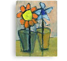 floral dialogue Canvas Print