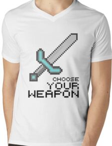 MINECRAFT SWORD Mens V-Neck T-Shirt
