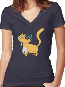 The catch Women's Fitted V-Neck T-Shirt