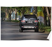 black colored toyota fortuner Poster