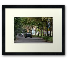 black colored toyota harrier Framed Print