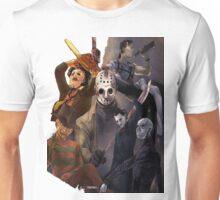 Terror Team - Ash Williams, PinHead, Leatherface, Freddy Krueger, Jason Voorhees, Ella, Micheal Myers Unisex T-Shirt