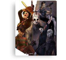 Terror Team - Ash Williams, PinHead, Leatherface, Freddy Krueger, Jason Voorhees, Ella, Micheal Myers Canvas Print