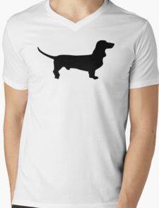 Dachshund Pattern Mens V-Neck T-Shirt