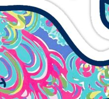 Vineyard Vines Lilly Pulitzer Lagoon Sticker