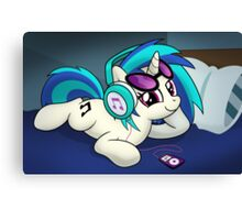 The Audiophile (Vinyl Scratch Poster) Canvas Print