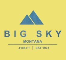 Big Sky Ski Resort Montana Kids Tee