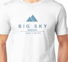 Big Sky Ski Resort Montana Unisex T-Shirt