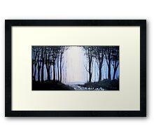 Dark Forrest Framed Print