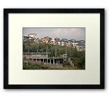luxury houses Framed Print