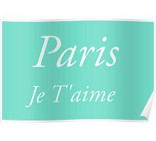 Paris, je t'aime - Cities and Countries Collection by Billy Bernie Poster