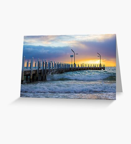 Safety Beach Jetty, Mornington Peninsula Greeting Card