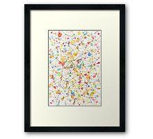 Geometrical Mess Framed Print