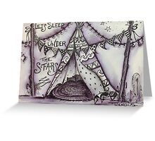 Happy glamping Greeting Card