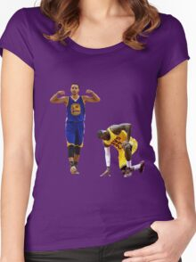 Lebron kneeling down Women's Fitted Scoop T-Shirt