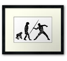 Distressed Javelin Throw Evolution Framed Print
