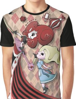 Alice and Red Queen by Lolita Tequila Graphic T-Shirt