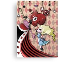 Alice and Red Queen by Lolita Tequila Canvas Print