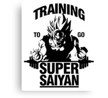 my special T-shirt, Training to go super Saiyan Canvas Print