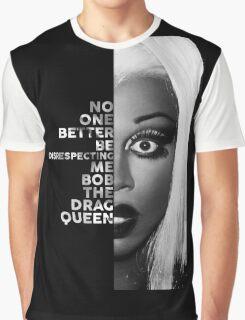 Bob The Drag Queen Text Portrait Graphic T-Shirt