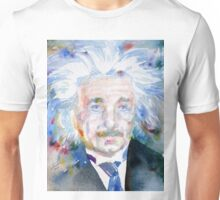 ALBERT EINSTEIN - watercolor portrait.6 Unisex T-Shirt