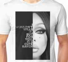 Raven Text Portrait Unisex T-Shirt