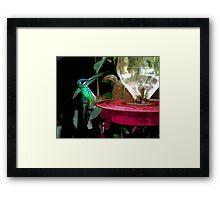 Mindo Hummingbird Painting Framed Print