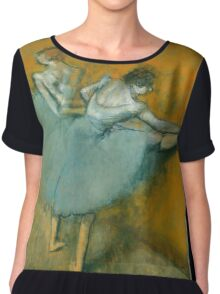 Edgar Degas - Dancers at the Barre ( 1900) Impressionism  ballerina dancers Chiffon Top
