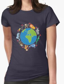 We Love Our Planet ! Womens Fitted T-Shirt