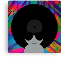 Funky Music Vinyl Records Canvas Print