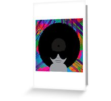 Funky Music Vinyl Records Greeting Card