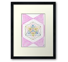 0109 - Geometrie With Funny Circles Framed Print