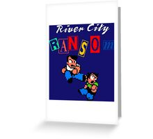 RIVER CITY RANSOM - NINTENDO Greeting Card