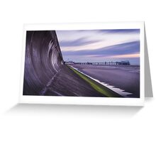 Blackpool - Along the Wall Greeting Card
