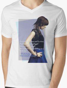 #WithLove Mens V-Neck T-Shirt