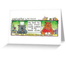 Chef & Sue Book Club Greeting Card