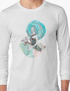 Paris Floral Love Birds Girl  Long Sleeve T-Shirt