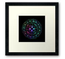 Midnight Rainbow Mandala Framed Print