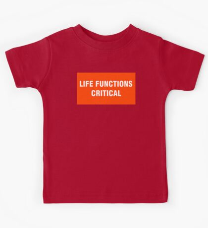2001 SPACE ODYSSEY - HAL 9000 - LIFE FUNCTIONS CRITICAL Kids Tee