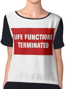 2001 SPACE ODYSSEY - HAL 9000 - LIFE FUNCTIONS TERMINATED Chiffon Top