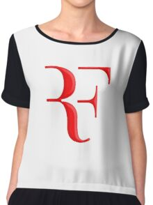 rf, roger federer, roger, federer, tennis, wimbledon, grass, tournament, ball, legend, sport, australia, nadal, net, cool, logo, perfect. Chiffon Top
