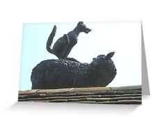 Leapfrogging Fox!! Greeting Card