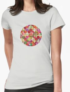 Macro floral bubbles Womens Fitted T-Shirt