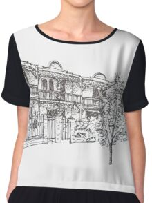 Bendall St Kensington Melbourne.  Chiffon Top